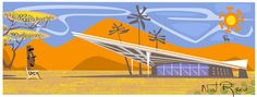http://natreed.com Googie Architecture, Space Age, mid century modern, Retro Modern, Exotica and Tiki Style by Nat Reed.