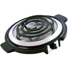 Cookinex Electric Single Burner Cool Touch Handle With Stainless Steel Drip Pan