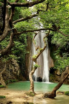 Neda Waterfalls in Peloponnese, Greece