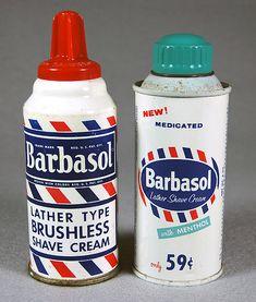 Barbasol shaving cream redhead