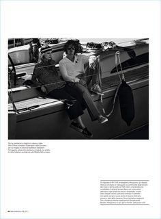 Welcome on Board: Leo Bruno Models Nautical Style for Men's Health Italia