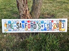 10th Wedding Anniversary Aluminum Gift Custom Recycled LICENSE Plate Art Sign