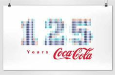 Award winning project: logo for the 125 years Coca-Cola Germany anniversary