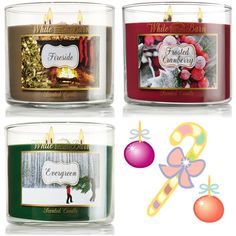 Bath and Body Works Holiday 2013 candles! Yea!