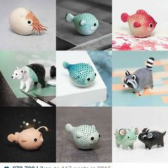 Happy New Year everyone! Wish you all the best in 2017 and thank you so much for your love and support! ❤ Here are my #2016bestnine that you loved most! #ramalama #ramalamacreatures #handmade #polymerclay #art #sculpture #animal #figurine #miniatures #fish #pufferfish #nautilus #raccoon #dragon #mint #polarbear #polymer #clay #fimo #etsy