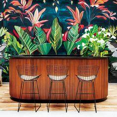 Hotel Arroyo, Buenos Aires: Mural tropical en el bar