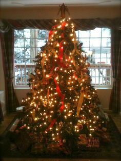 The holidays are here! at the McCaffrey House Bed and Breakfast in snowy Twain Harte