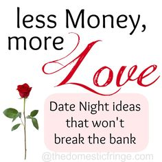 Cheap Date Night Ideas @ thedomesticfringe.com - 31 Days of Cheap Tricks, Living for Less