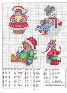 ru / Фото - LA-and even a mouse - natalytretyak Cross Stitch Christmas Ornaments, Xmas Cross Stitch, Cross Stitch Cards, Christmas Embroidery, Christmas Cross, Cross Stitching, Cross Stitch Embroidery, Merry Christmas, Christmas Minis