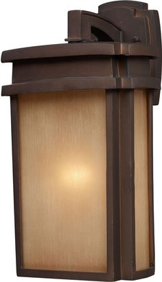 Sedona 1 Light Outdoor Wall Sconce In Clay Bronze
