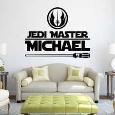 Star Wars Master Personalized Name Wall Art Sticker Decal Home DIY Decoration & Star Wars Master Personalized Name Wall Art Sticker Decal Home DIY ...