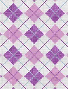 PATTERN INFORMATION-----------------------  You can use this pattern for cross stitch projects or C2C crochet blankets.  ✿ Skill