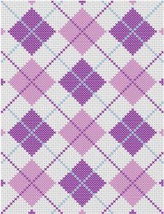 SALE 35% OFF - graphghan - C2C crochet - Corner to corner - Argyle blanket Afghan Crochet Pattern Graph Chart