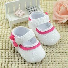 Jan1 incrível bebê verão meninas de algodão sapatos de sola macia pé primeiro Walker alta qualidade 2016(China (Mainland))