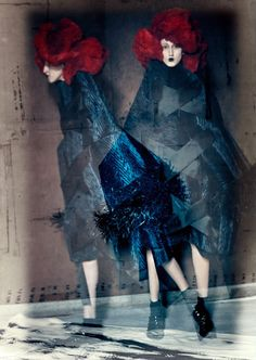 """Blue Witches"" Anna Cleveland by Paolo Roversi for Luncheon Magazine S/S 2016"