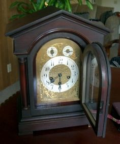 German Junghans Grand Mantel Westminster Chime Clock