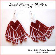 Heart Earrings Tutorial by totallytwisted on Etsy https://www.etsy.com/listing/109847776/heart-earrings-tutorial