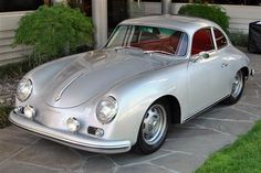 1959 #Porsche 356 #Coupe looking stunning in silver. #Classic #SportsCar #Speed #Style #Design #Beauty