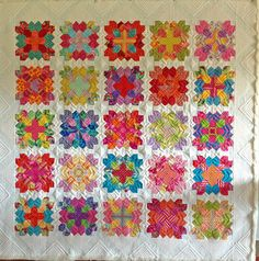 POTC quilted...like this version of Lucy Boston quilt...bright and cheerful...