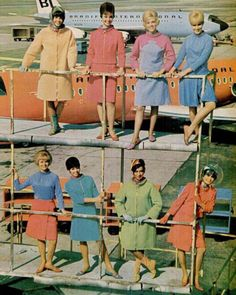 Air hostesses wearing Emilo Pucci for Braniff Airlines, 1965