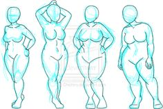 """Plus-size Croquis by ~Chichiro on deviantART  """"These are not for free use. They are not free bases. Please do not treat them as such.""""  Corsetra asks """"then why you put them in internet?"""""""