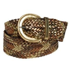 Ladies Gold Multi-Tone Braided Criss-Cross Designer Fashion Belt by Milidee