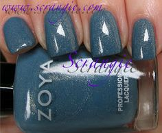 Zoya: True Collection and Fleck Effect Mylar Fleck Topcoats for Spring 2012 - Skylar