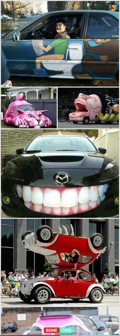 10+ Of The Most Funniest Cars Around The World #funnypics #cars #paintjob #funnypictures #bemethis
