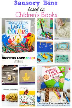 Sensory Bins Based on Children's Books - Mom Inspired Life Sensory bins based on children's books. Work on fine motor skills, early math and literacy. Should you enjoy arts and crafts you actually will enjoy this cool info! Preschool Literacy, Preschool Books, Early Literacy, Toddler Preschool, Early Math, Kindergarten Sensory, Toddler Teacher, Preschool Centers, Early Learning