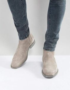 Aldo Vianello Suede Chelsea Boots In Gray Chelsea Boots Outfit, Suede Chelsea Boots, Mens Suede Boots, Aldo Boots Mens, Mens Boots Fashion, Stylish Mens Outfits, Dress With Boots, Ideias Fashion, Footlocker