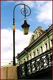 A street lamp in Saint-Petersburg.