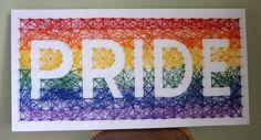 Pride string art, by Design Wheel @ www.etsy.com/shop/DesignWheel