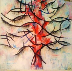 Surreal Art: Piet Mondrian's abstract trees art painting