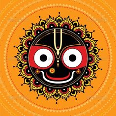 Jagannath Indian God of the Universe - Religion Conceptual