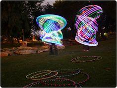 Light up hula hoops.