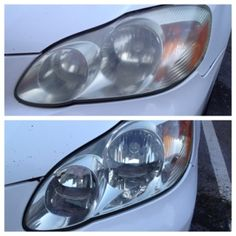 DIY-clean headlights