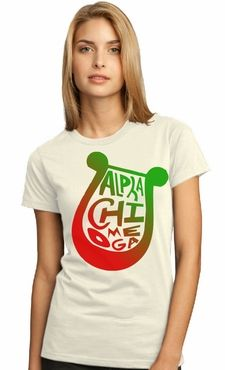 Alpha Chi Omega Tee | I love the gradient, but I would probably love it on black
