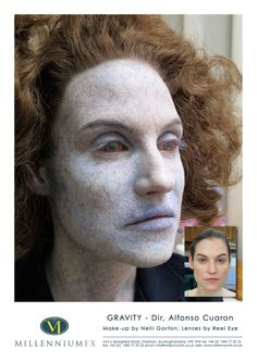 Make Up for the film Gravity done in Millenium  FX by Neill Gorton