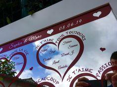 Plan de table mariage Miroir thème amour – Gravure laser Rouge – Imprimerie ICB Gravure Laser, How To Plan, Printing, Love, Red