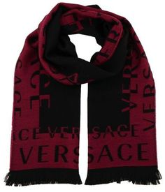 Versace IT00630 Fuxia Fuschia 100% Wool Mens Scarf, Men's, Size: 14in-72in, Pink