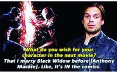 Seb ships WinterWidow pass it on- this makes me so happy because I ship WinterWidow really hard