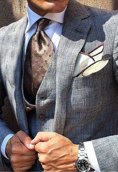 Style I Gentleman's Essentials Sharp Dressed Man, Well Dressed Men, Mens Attire, Mens Suits, Style Dandy, Style Gentleman, Suit Fashion, Mens Fashion, Traje Casual