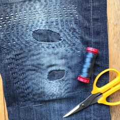 """380 Likes, 39 Comments - Kitty Wilkin (@nightquilter) on Instagram: """"Mondays are for mending. With my mending pile growing and the tiny holes in my favorite jeans…"""""""