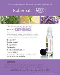 Embrace Confidence. Bergamot. Cedarwood. Grapefruit. Lavender. Roman Chamomile. Ylang Ylang.