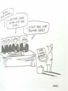 """Dessin de Gabs dans le livre """"la créativité entrepreneuriale"""" de Éric Favre"""