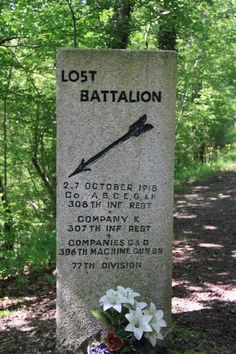 The Lost Battalion is the name given to nine companies of the United States 77th Division, roughly 554 men, isolated by German forces during World War I after an American attack in the Argonne Forest in October 1918. Roughly 197 were killed in action and approximately 150 missing or taken prisoner before 194 remaining men were rescued. (http://en.wikipedia.org/wiki/Lost_Battalion_%28World_War_I%29)