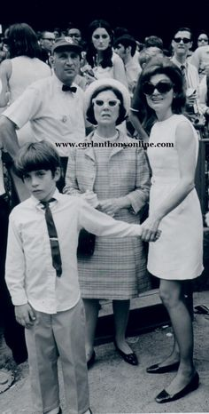 Jackie was joined by her mother as they took John to a World Series game in 1969.