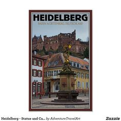 Heidelberg - Statue and Castle Poster