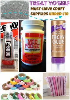 ('Treat Yo'Self: 10 Must-Have Craft Supplies under $10...!')