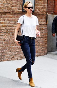 Your+Advanced+Class+in+Styling+a+White+T-Shirt:+Celebrity+Edition+via+@WhoWhatWear
